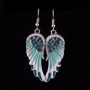 Jewelry - Crystal Angel Wing Earrings